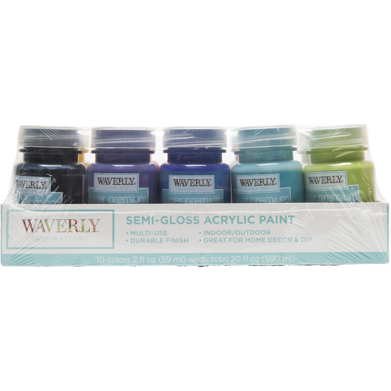 Waverly Inspirations 10Pc Semi Gloss Paint