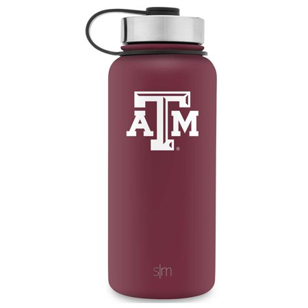 Simple Modern 32oz Summit Water Bottle - Texas A&M Aggies Vacuum Insulated 18/8 Stainless Steel Travel Mug - Texas A&M ()
