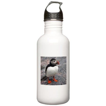 CafePress - Lone Puffin Stainless Water Bottle 1 - Stainless Steel Water Bottle, Sports Bottle, 1.0L