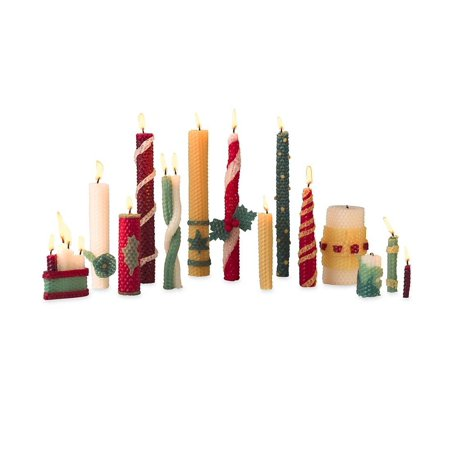 Holiday Candle Making Kit, Natural beeswax candle kit By Magic Cabin