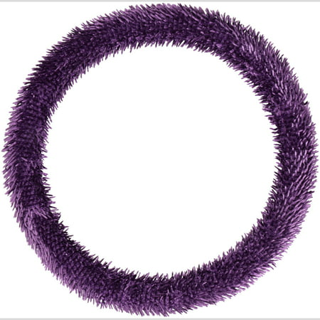 Auto Drive™ Shiny Shaggy™ Purple Steering Wheel
