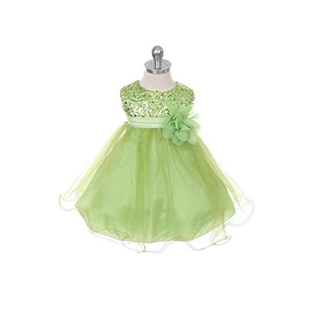 Button Bodice (Sequined Bodice with Double Tulle Skirt Flower Girl Dress )