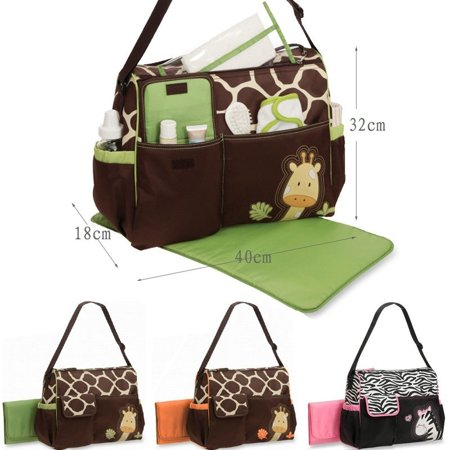 UK Baby Nappy Changing Bag Set Diaper Bags Mat Mummy Shoulder Handbag Stroller