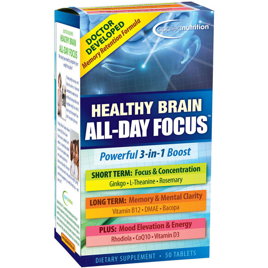 Applied Nutrition: Healthy Brain All-Day Focus, 50ct Healthy Brain All-Day Focus, 50ct, 1 Ct