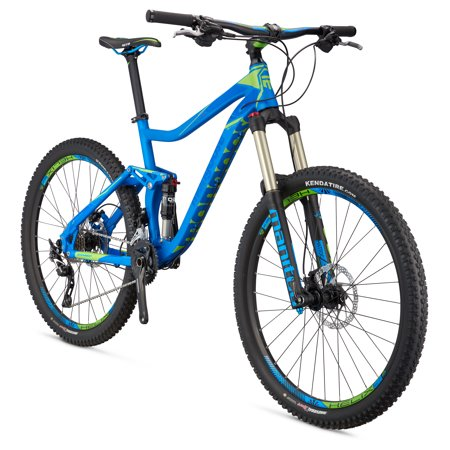 "Mongoose Teocali Comp 27.5"" Men's Full Suspension Mountain Bike, Blue, Large"