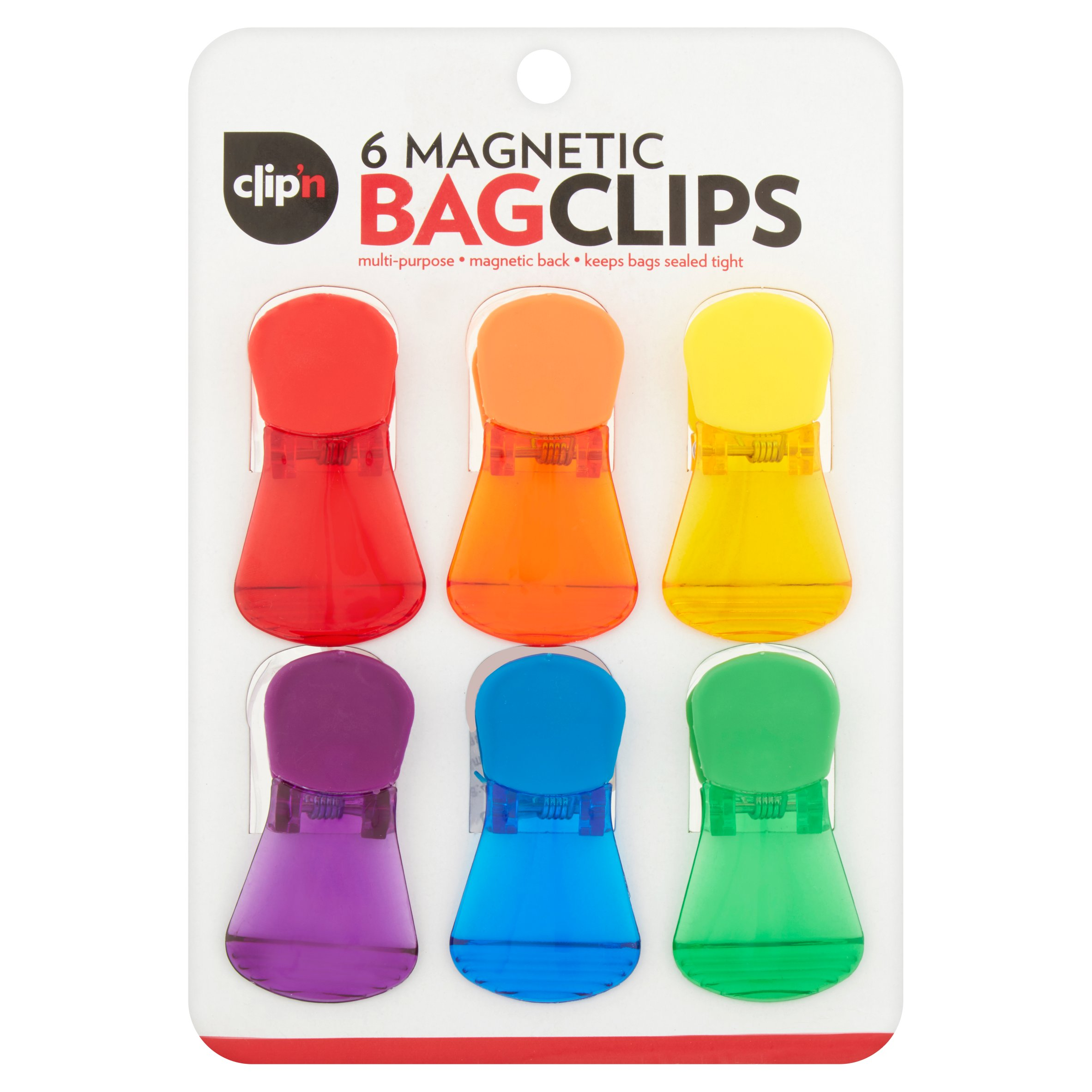 Magnetic Bag Clips 6-Pack