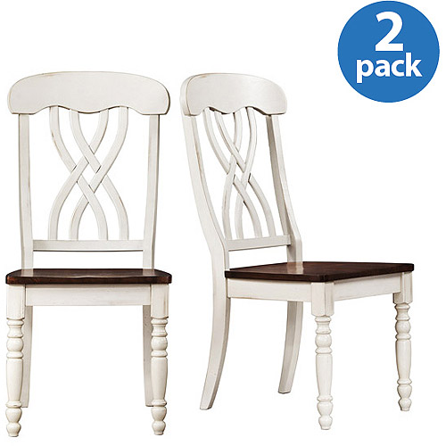 Ohana Side Chairs Set of 2, White   Oak by Top Line