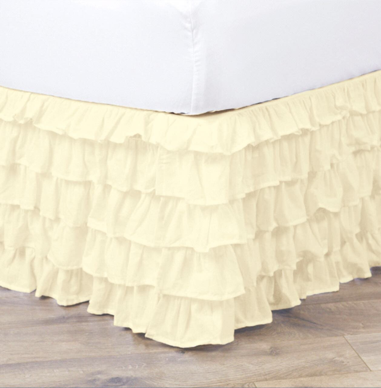 Empire Home Pleated Ruffled Bed Skirt Solid Dust Ruffle All Sizes  - Twin Beige