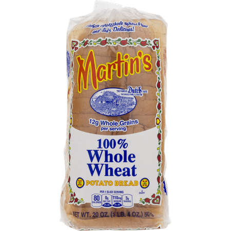 Martin's 100% Whole Wheat Potato Bread- 16 Slice 20 oz (2