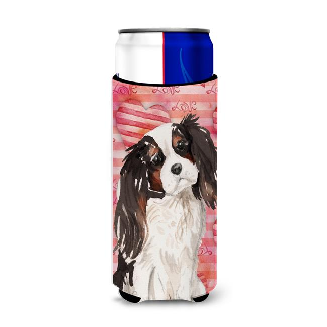 Carolines Treasures BB9472MUK Tricolor Cavalier Spaniel Love Michelob Ultra Hugger for Slim Cans - image 1 of 1
