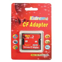 Dual Slot Cards Reader TF/Micro SD/SDHC To CF Type 1 Memory Card Converter Adapter For Phone For DSLR Cameras