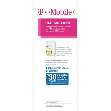 T-Mobile Micro and Standard Combo Sim Card Activation Kit