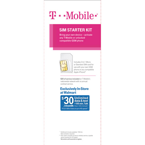 T-mobile Tmo Prepaid Combisim Activation Kit