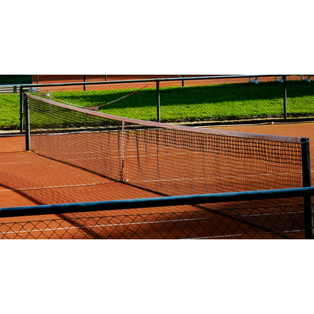 Canvas Print Network Tennis Court Ash Tennis Ball Sports Ball Stretched Canvas 32 x 24