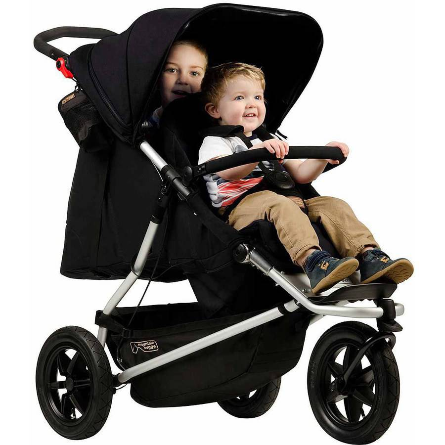 Mountain Buggy 2015 Plus One Inline Double Stroller - Walmart.com