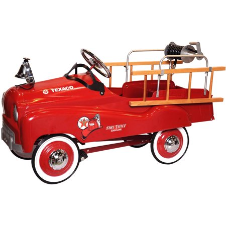 Texaco Fire Chief Stamped Steel Pedal Ride On Car