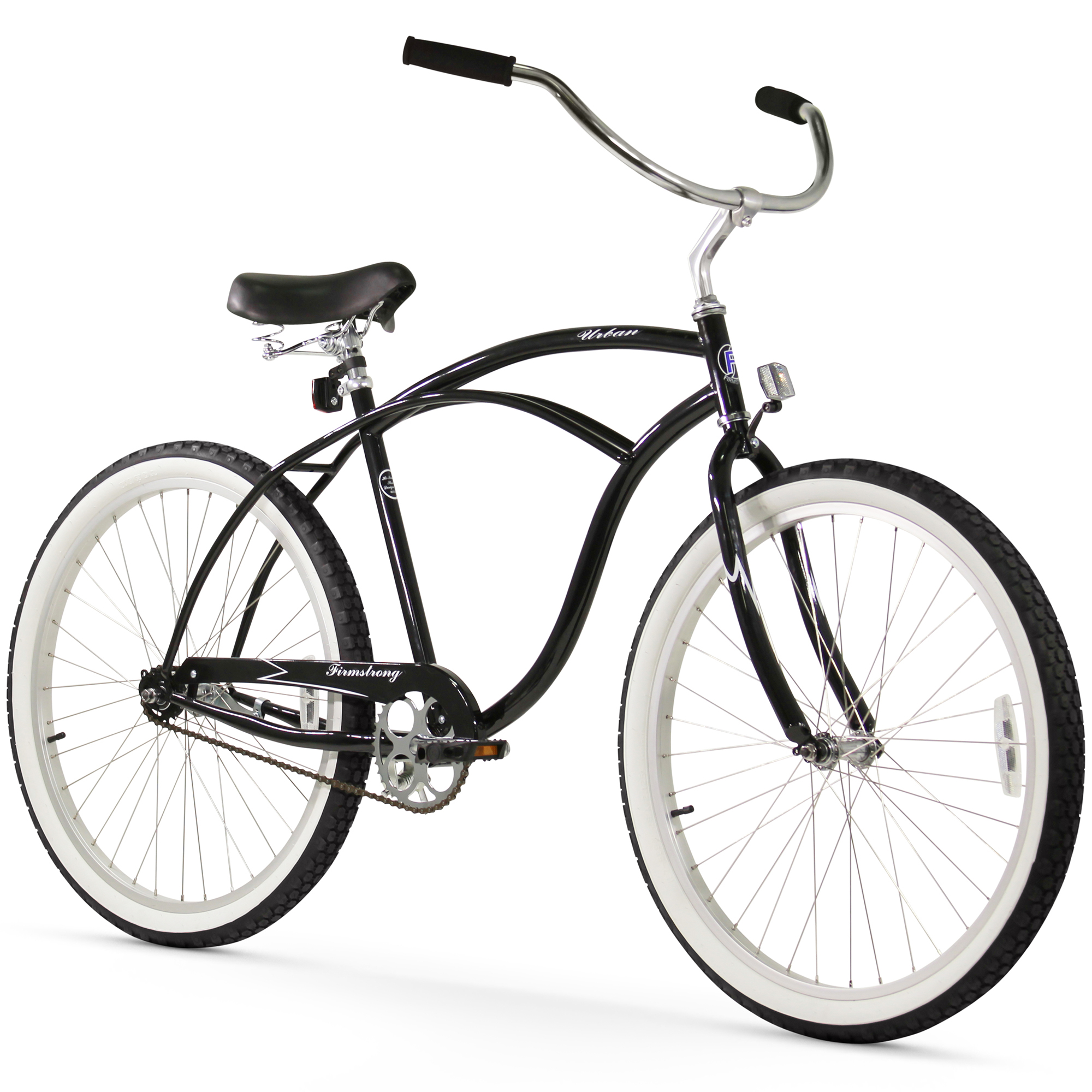 "26"" Firmstrong Urban Man Single Speed Beach Cruiser Bicycle, Black"