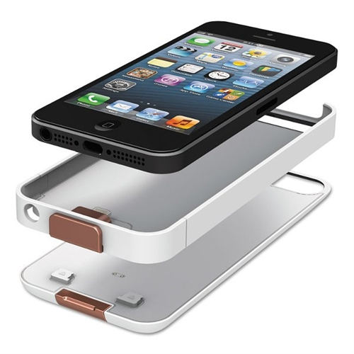 Duracell PowerSnap Kit for iPhone 5, 1950 mAh, White DURPRCA5W1