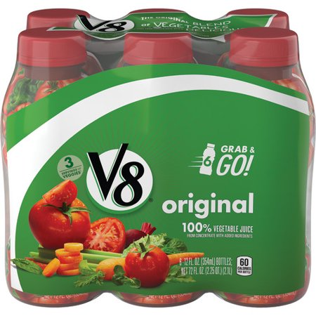 V8 Original 100% Vegetable Juice, 12 oz. Bottle (Pack of (Best Vegetables To Juice For Cancer)