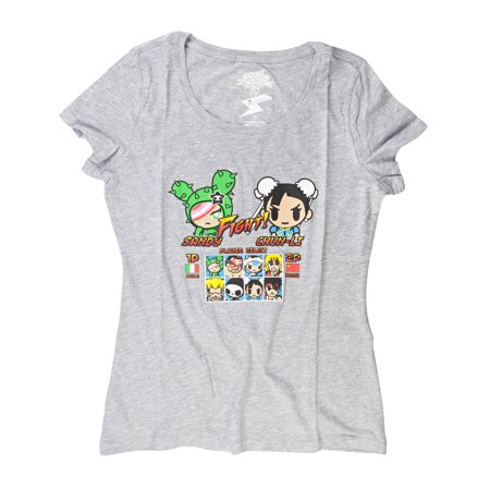 Street Fighter X Tokidoki Sandy vs Chun Li Juniors T-Shirt | L (Chun Li Halloween)