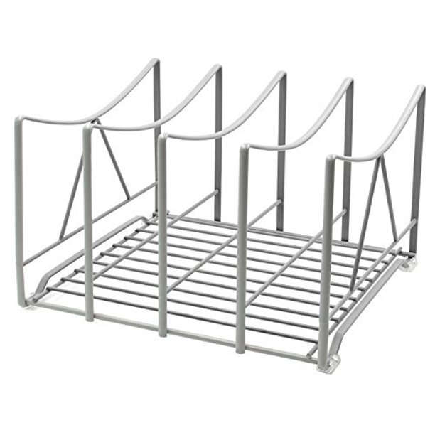 Izlif Kitchen Cabinet Pantry Organizer Holder 7 25 Inch High 4 Slot Grey Walmart Com Walmart Com