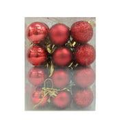 christmas balls 24pcs30mm christmas balls baubles party xmas tree decorations hanging ornament decor - Red Christmas Bows