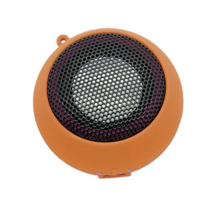 Wired Portable Universal Loud Speaker Orange Multimedia Audio System Rechargeable for Ipod Nano 7th Gen 5th Gen, iPhone 6S Plus 6 Plus 5S, iPad Pro 9.7 12.9, Mini 4 3 2, Air 2