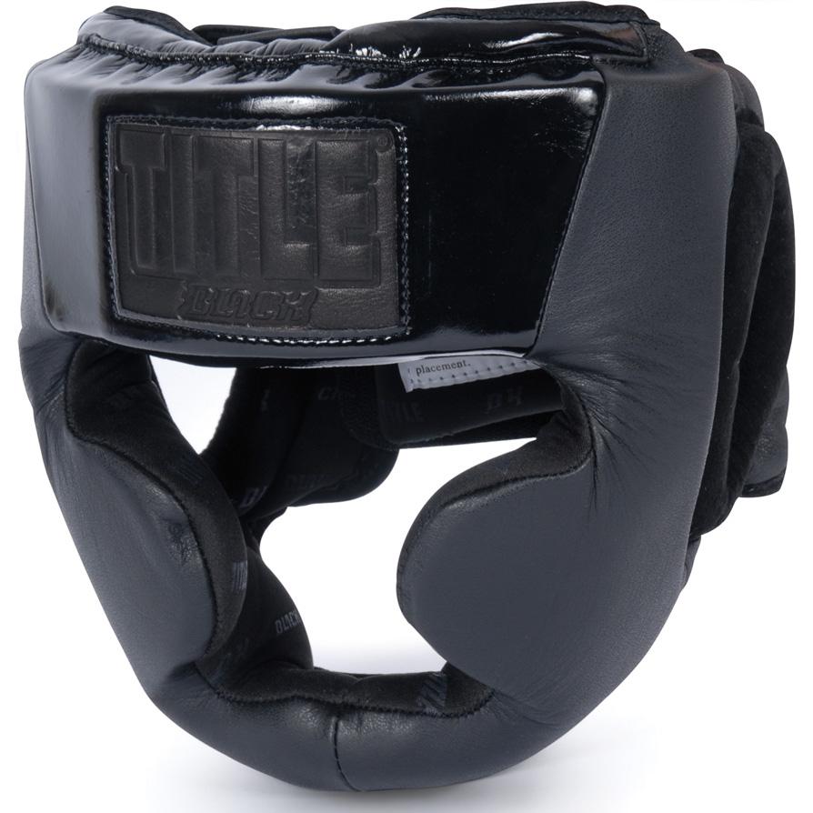 Title Black Full Coverage Boxing Headgear