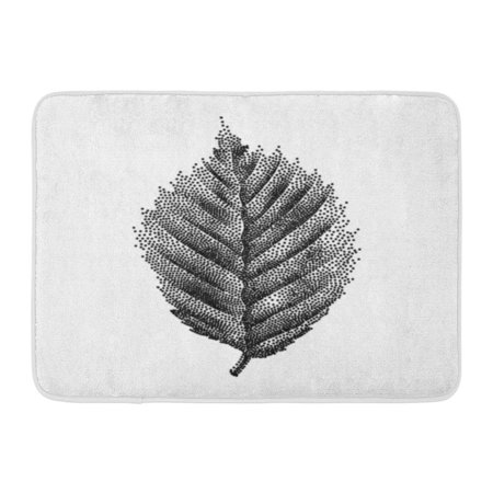 GODPOK Forest White Oak Engraving Birch Leaf Hand Drawn Drawing Summer Rug Doormat Bath Mat 23.6x15.7