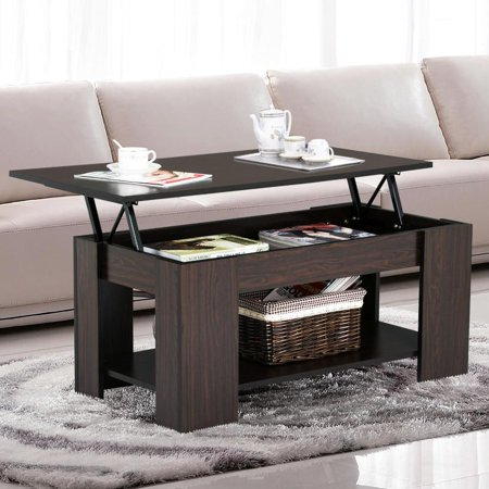 Yaheetech Lift Up Top Coffee Table With Under Storage Shelf Modern Living Room Furniture Espresso