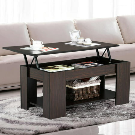 Mahogany Set Coffee Table - Yaheetech Lift up Top Coffee Table with Under Storage Shelf Modern Living Room Furniture (Espresso)