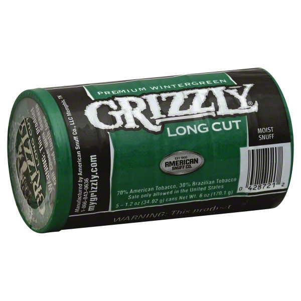 Grizzly Long Cut Wintergreen Roll
