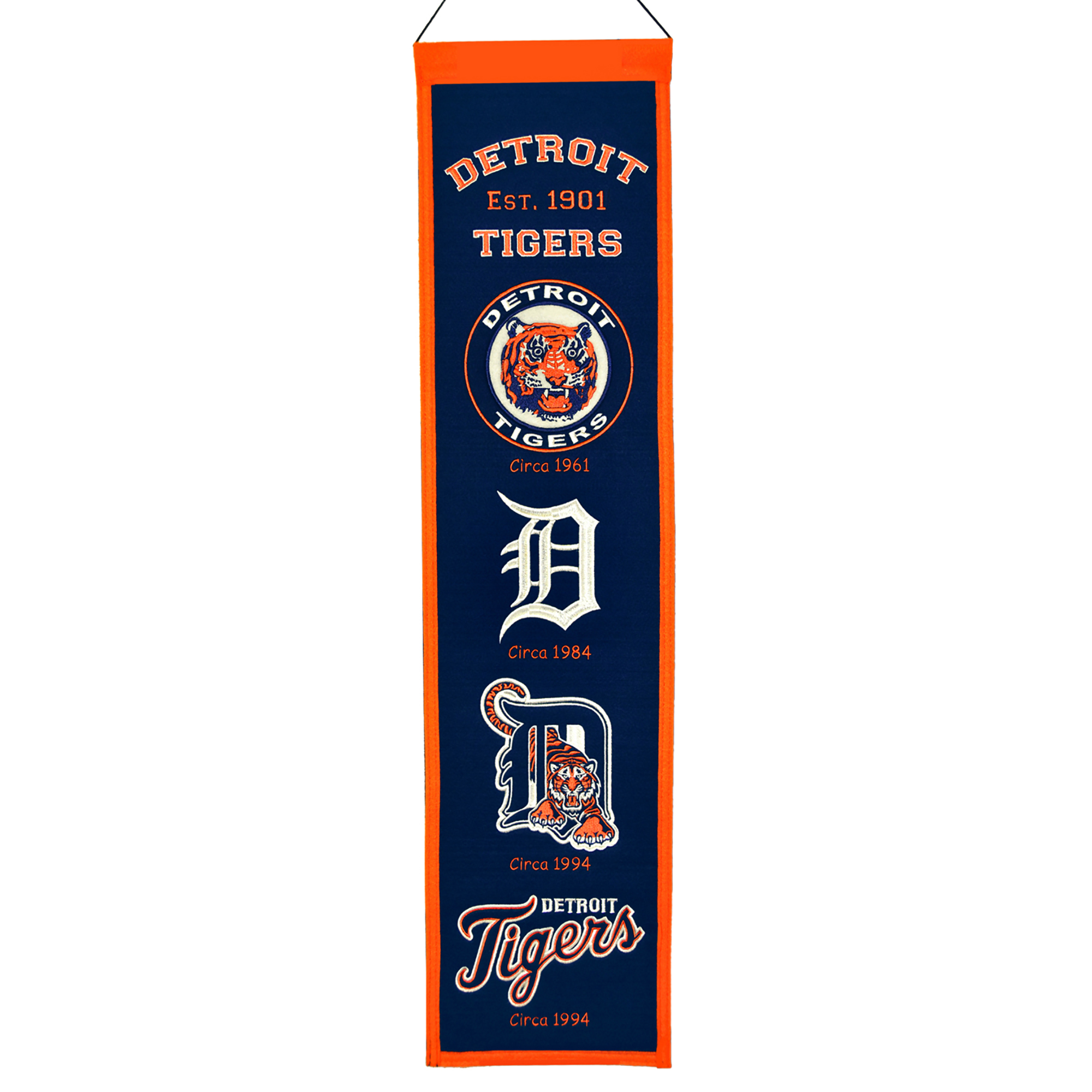 """Detroit Tigers 8"""" x 32"""" Heritage Banner - No Size"""