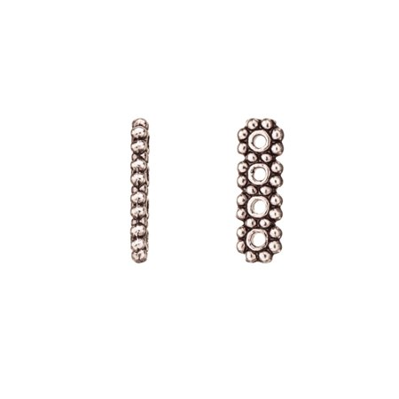Pkg Daisy - 4-Strand Rondelle Daisy Spacer Antique-Silver Plated 13.7x4.3mm Sold per pkg of 20