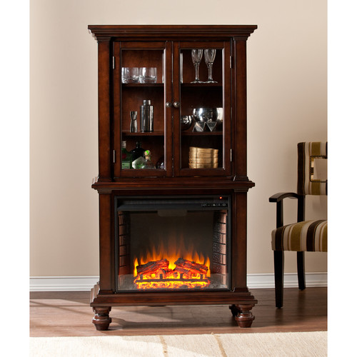 Wildon Home  Suttonfield Curio Electric Fireplace