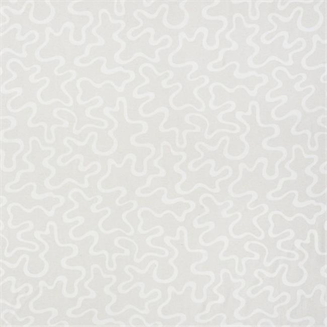Designer Fabrics U0090B 54 in. Wide Ivory Abstract Large Squiggly Pattern Upholstery Fabric