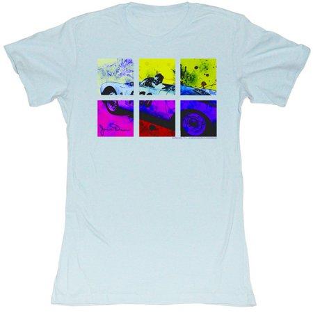 James Dean Neon Square Divided Juniors T-Shirt Tee - image 1 de 1