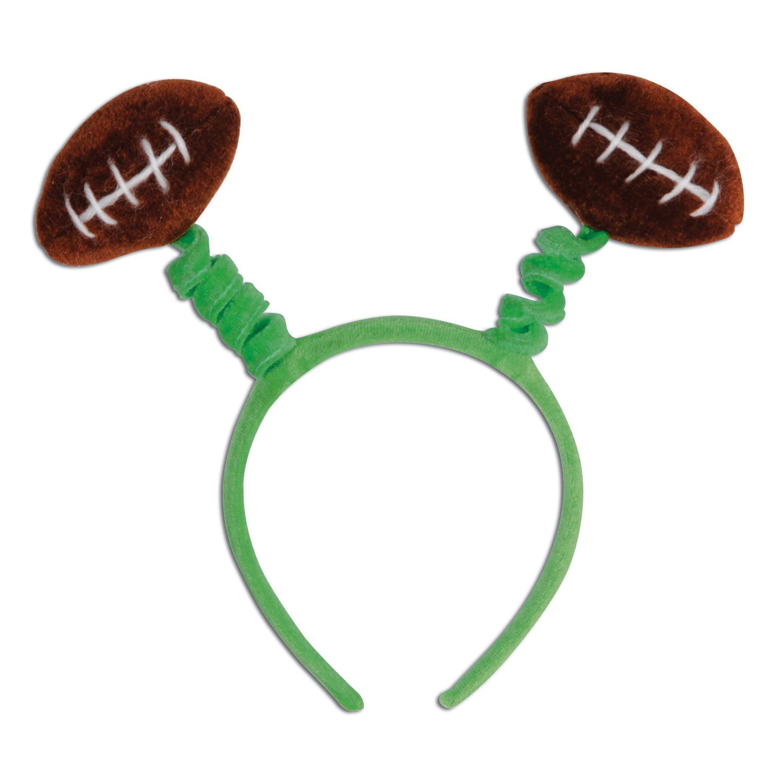 Beistle Fuzzy Football Snap-On Headband Headband Boppers, Green Brown, One-Size