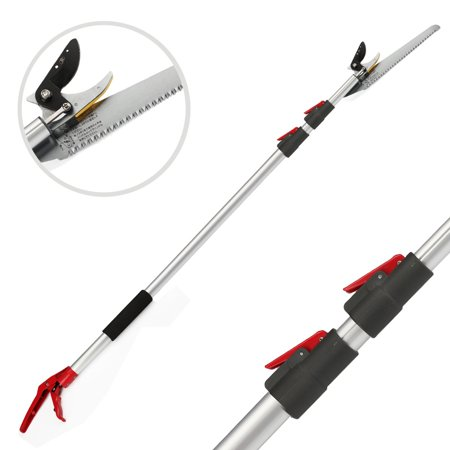 Tree pruner with extendable pole saw long reach fruit picker tree pruner with extendable pole saw long reach fruit picker harvestertelescopic portable gardening shear 46 greentooth Gallery