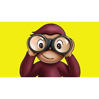 Curious George Binoculus Edible Cake Topper Frosting 1/4 Sheet Birthday Party