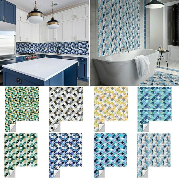 goory 10 pcs 20x20 15x15 mosaic selfadhesive bathroom