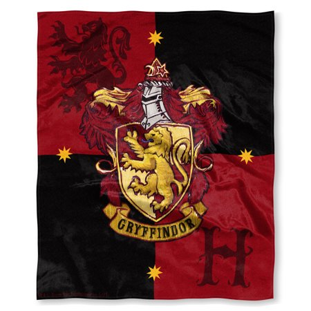 Harry Potter House Crests Silk Touch Throw 50