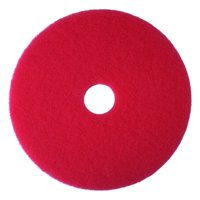 """3M 08388 Red Buffer Pad 5100, 13"""" Floor Buffer, Machine Use (Pack of 5)"""