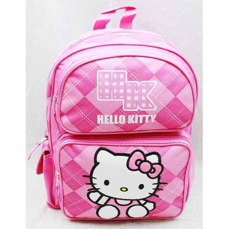 Medium Backpack - - Pink Checker New School Bag Book Girls 82079