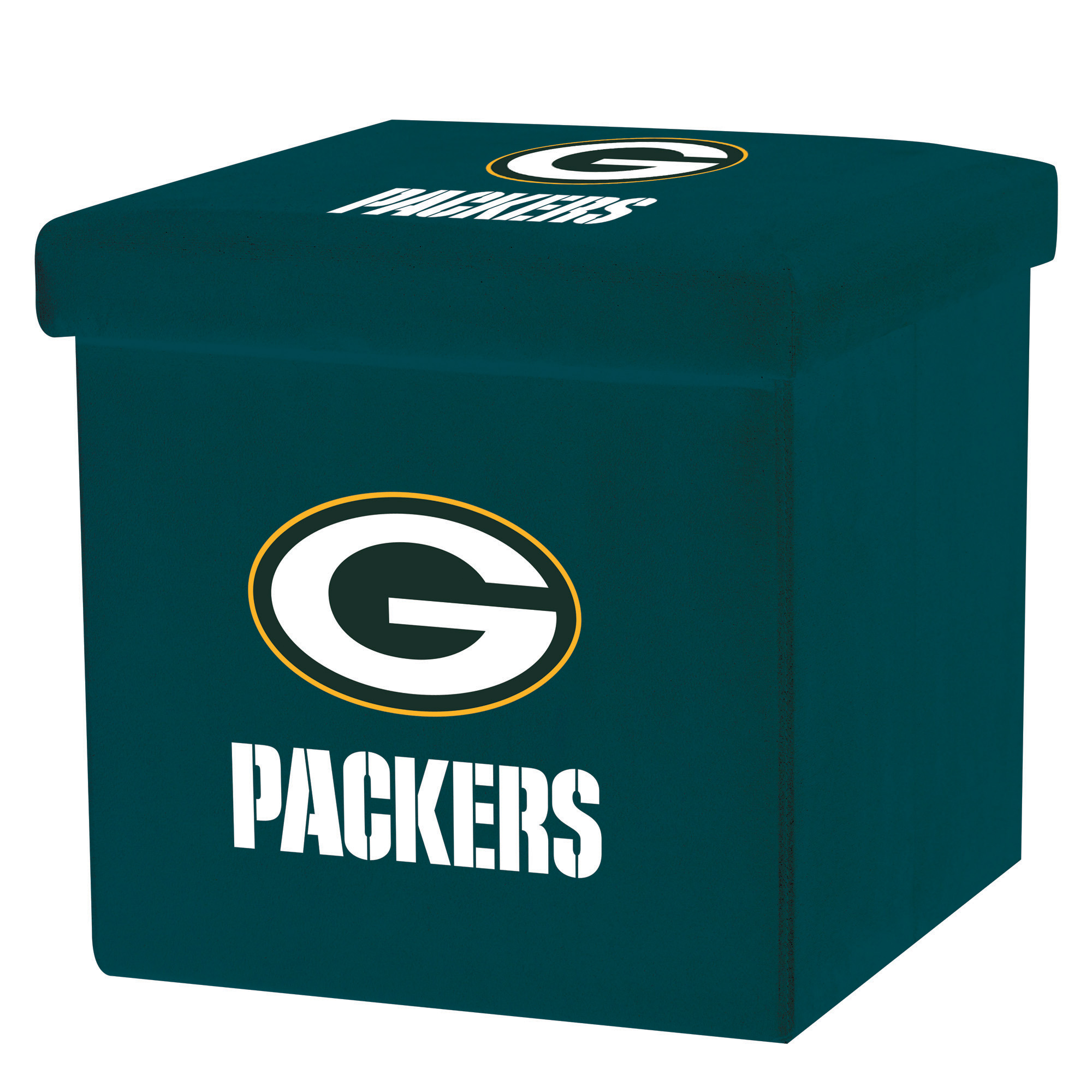 Franklin Sports NFL Green Bay Packers Storage Ottoman with Detachable Lid