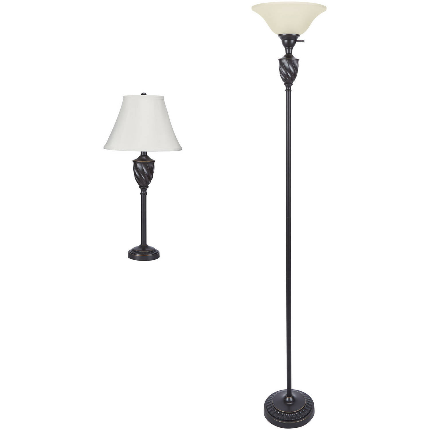 Floor lamp sets lamp design ideas mainstays table and floor lamp set oil rubbed bronze finish mozeypictures Images