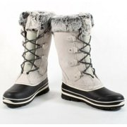 Khombu Emily Suede Leather Faux Fur Winter Snow Boot Size 11 in Grey