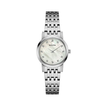 Bulova Women's Diamond Dial Mother of Pearl Watch 96P175