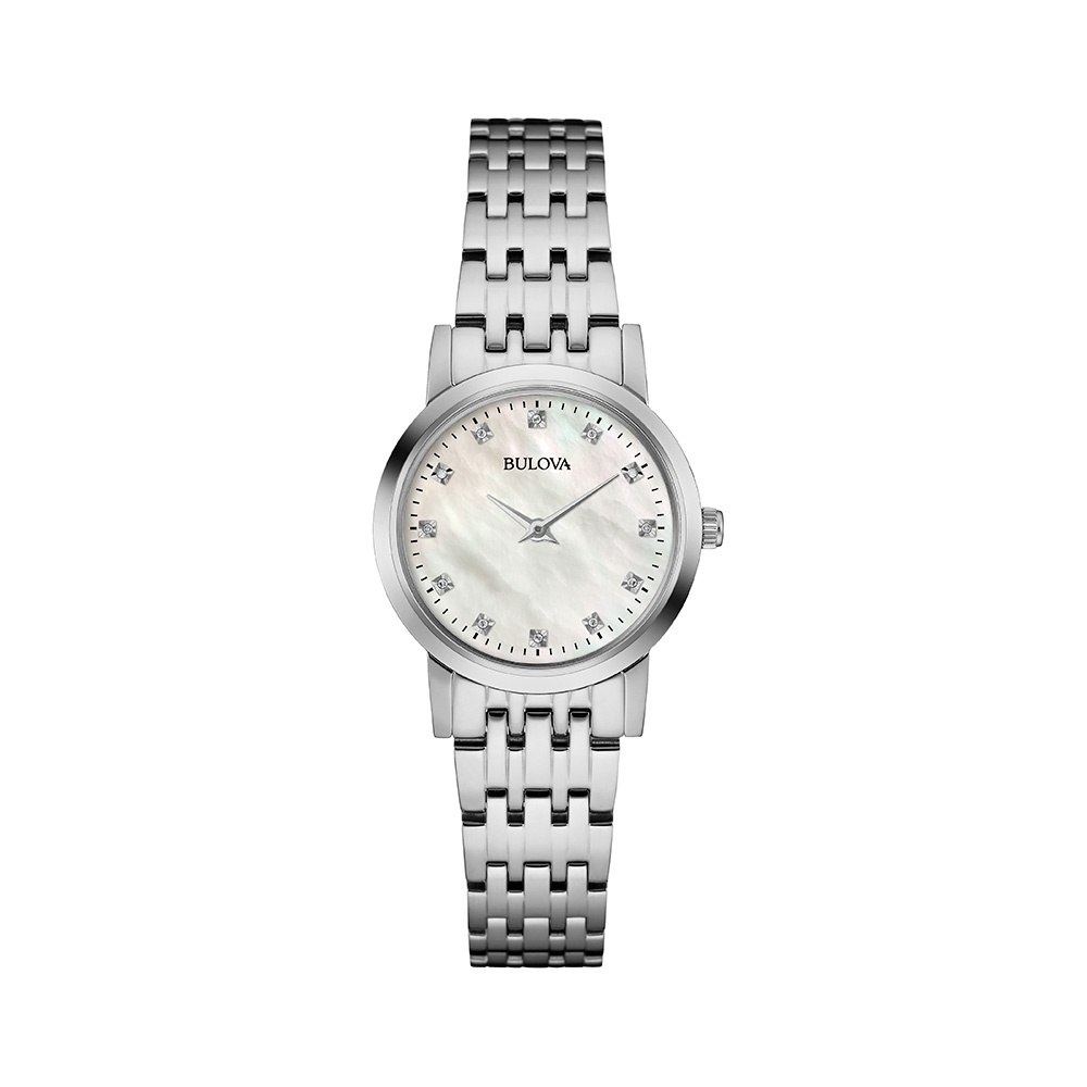 Bulova Diamond Dial Mother of Pearl Women's Watch