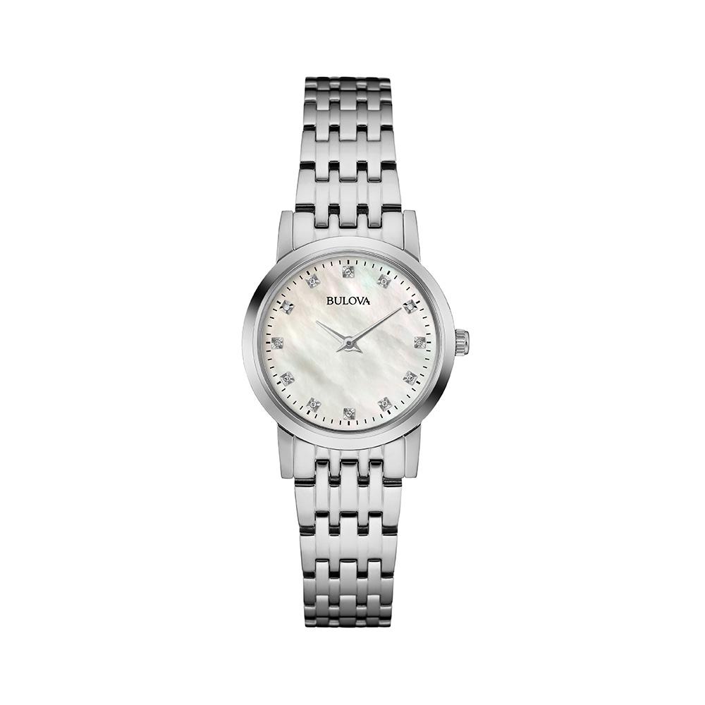 Bulova Diamond Dial Mother of Pearl Women's Watch